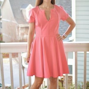 Black Halo Peach Fit and Flare Dress - Size 6